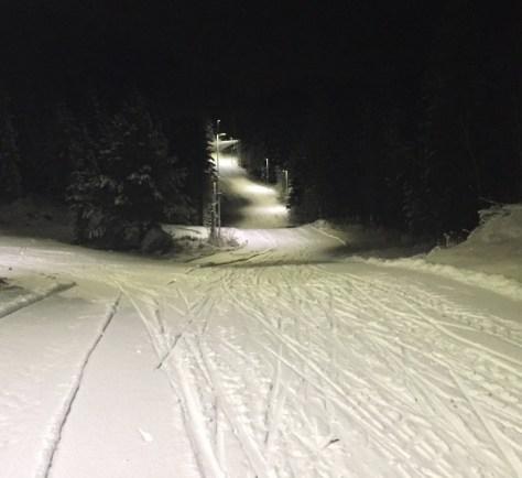 Her er det god plass til alle som vil ut på ski! Foto: Elin Myrholdt.