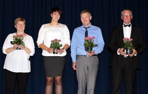 Rådgivere i Frosta 4H: Anne Oldervik, Trine Haug, Roar Stene Hojem og Hallgeir Ulvik