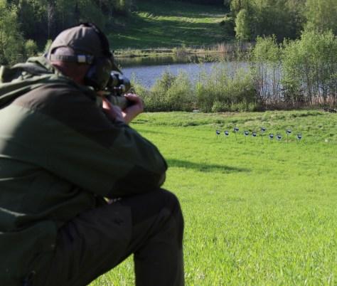 Grunneielagspokalen utfordrer skytterne på feltskyting mot viltblinker - Arne Østerlie