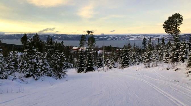 Lysløype - utsikt mot Leksvik 2017