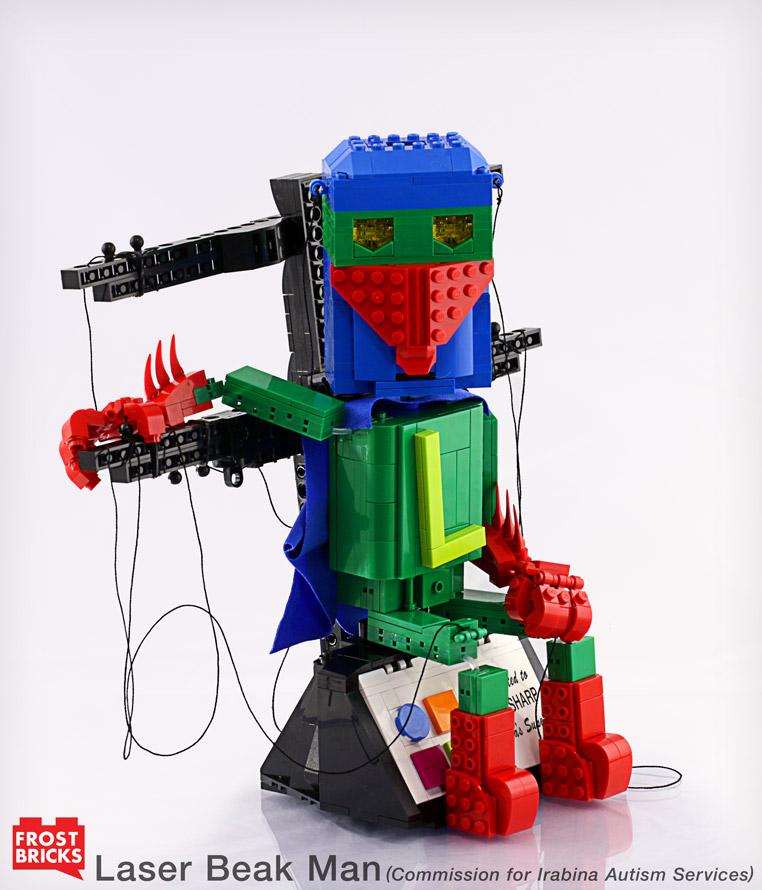 Laser Beak Man Sitting