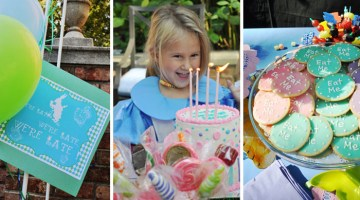 Mad Hatters Tea Party - Alice in Wonderland Party Ideas and Inspiration Girls Birthday, Baby Shower or a Whimsical Wedding via @frostedevents