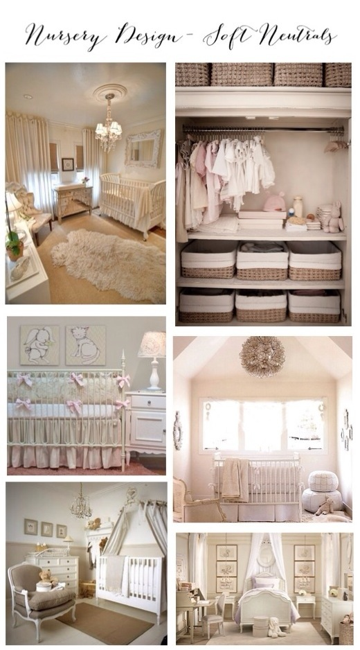 Nursery Design- Soft Neutrals Inspiration and Ideas