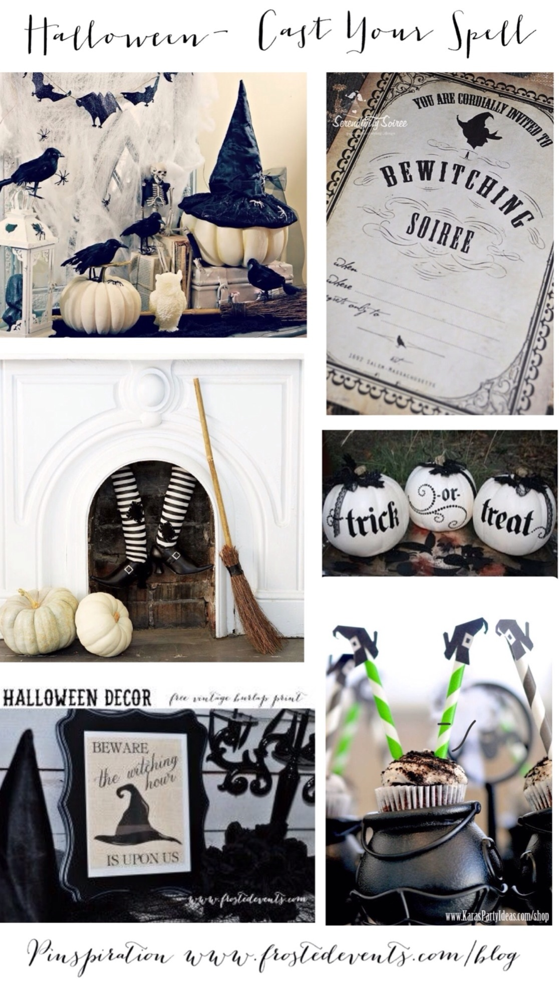 Halloween- Cast Your Spell- Witch Themed Halloween Ideas & Inspiration www.frostedevents.com