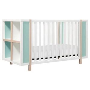 Mint Green and Natural Crib Furniture