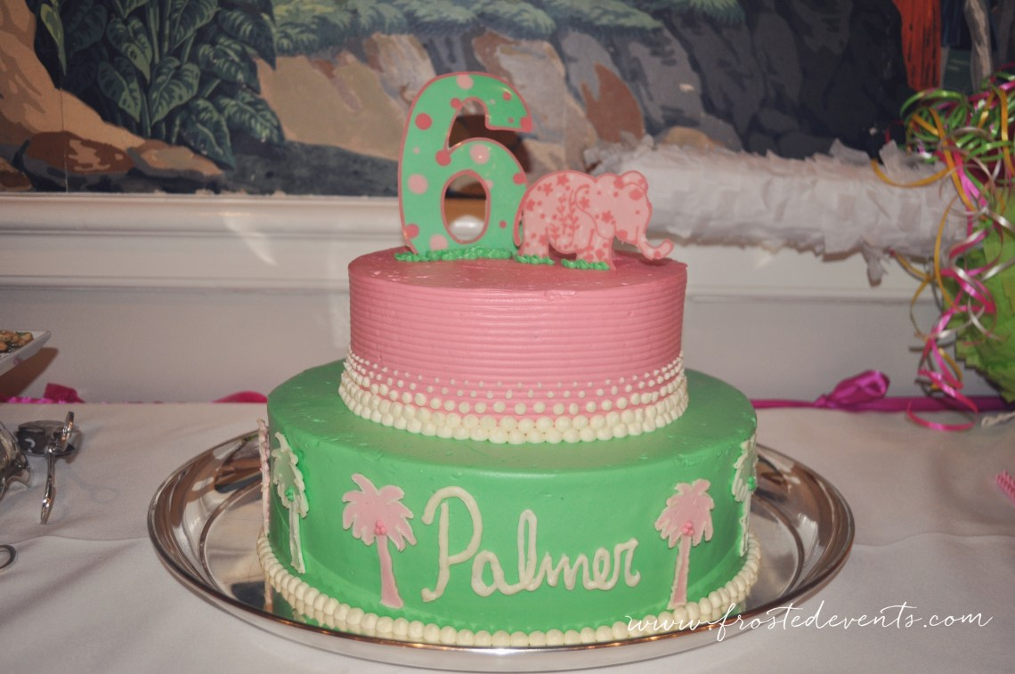 Lilly Pulitzer Theme Birthday Party by Frosted Events www.frostedevents.com