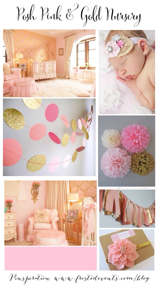 Pink and Gold Nursery Ideas & Inspiration www.frostedevents.com
