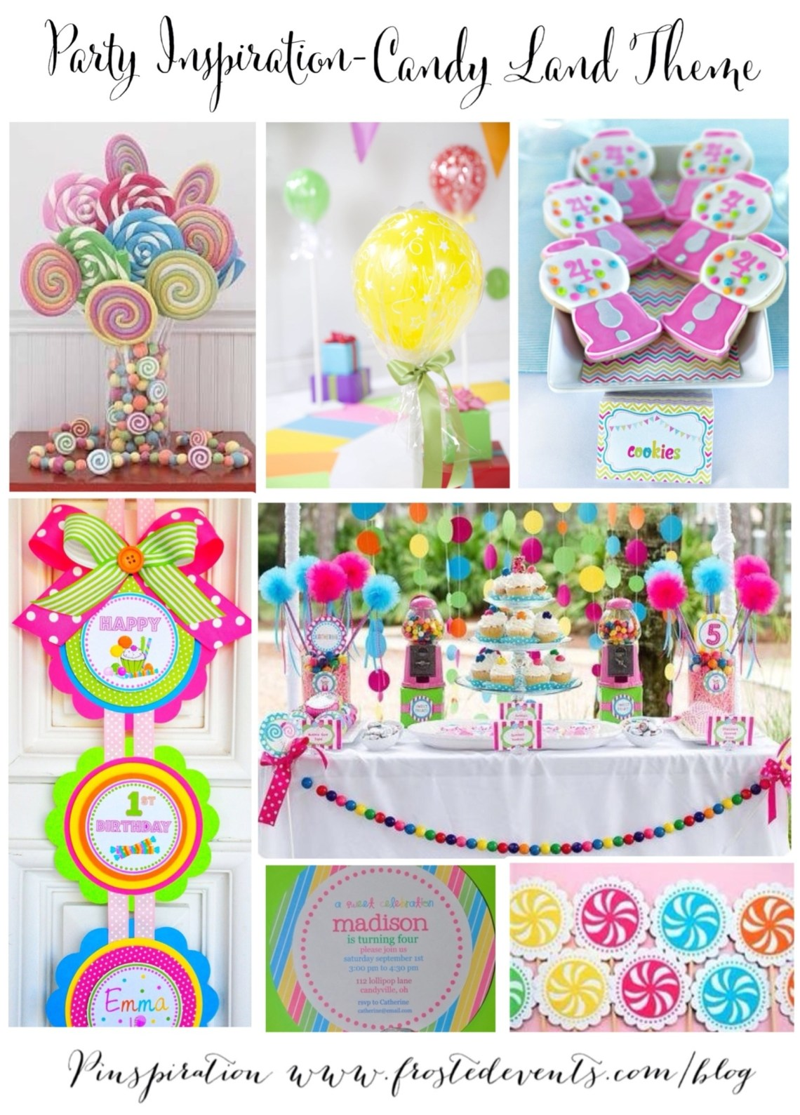 Candy Land Theme Party Ideas and Inspiration www.frostedevents.com Kids Party Ideas