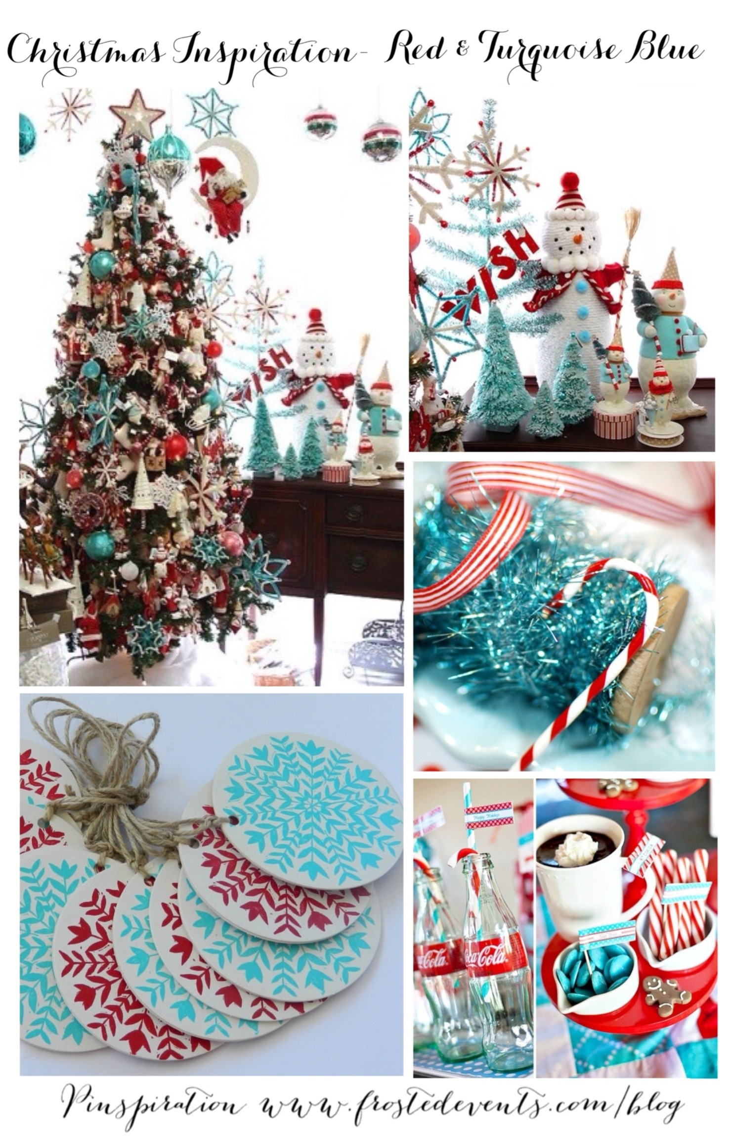 christmas inspiration- red and aqua