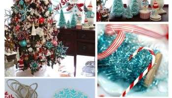 christmas inspiration red aqua