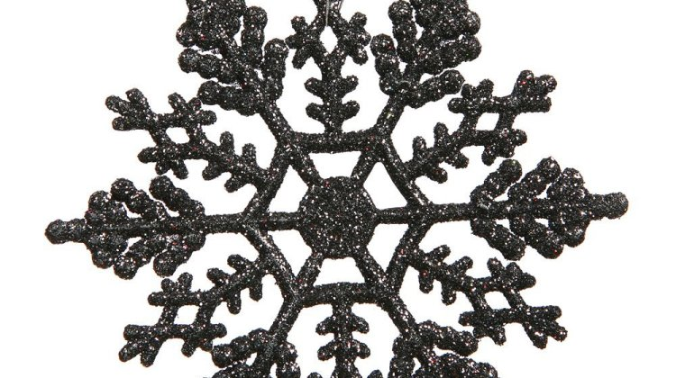 Black Snowflake Ornaments