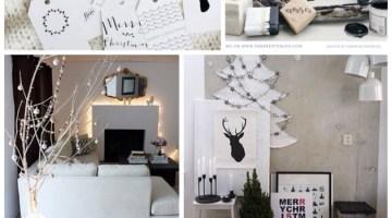 Christmas Inspiration- Modern Black & White