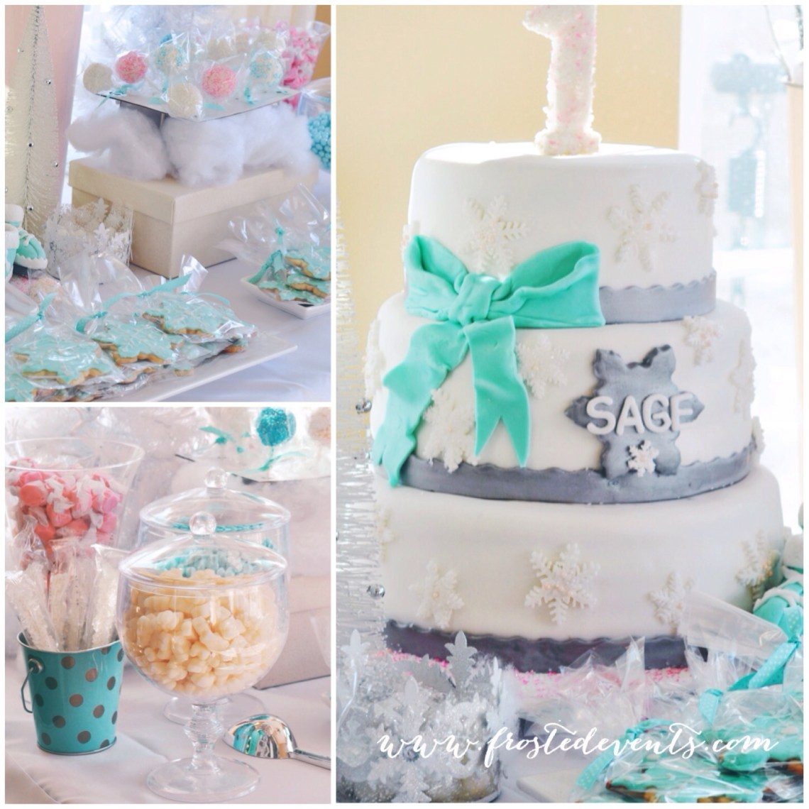 Winter-Wonderland-First-Birthday-Party by www.frostedevents.com