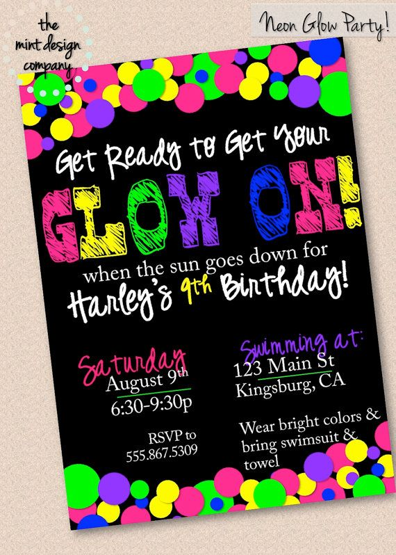 Party Themes Neon Glow Ideas Via Frostedevents