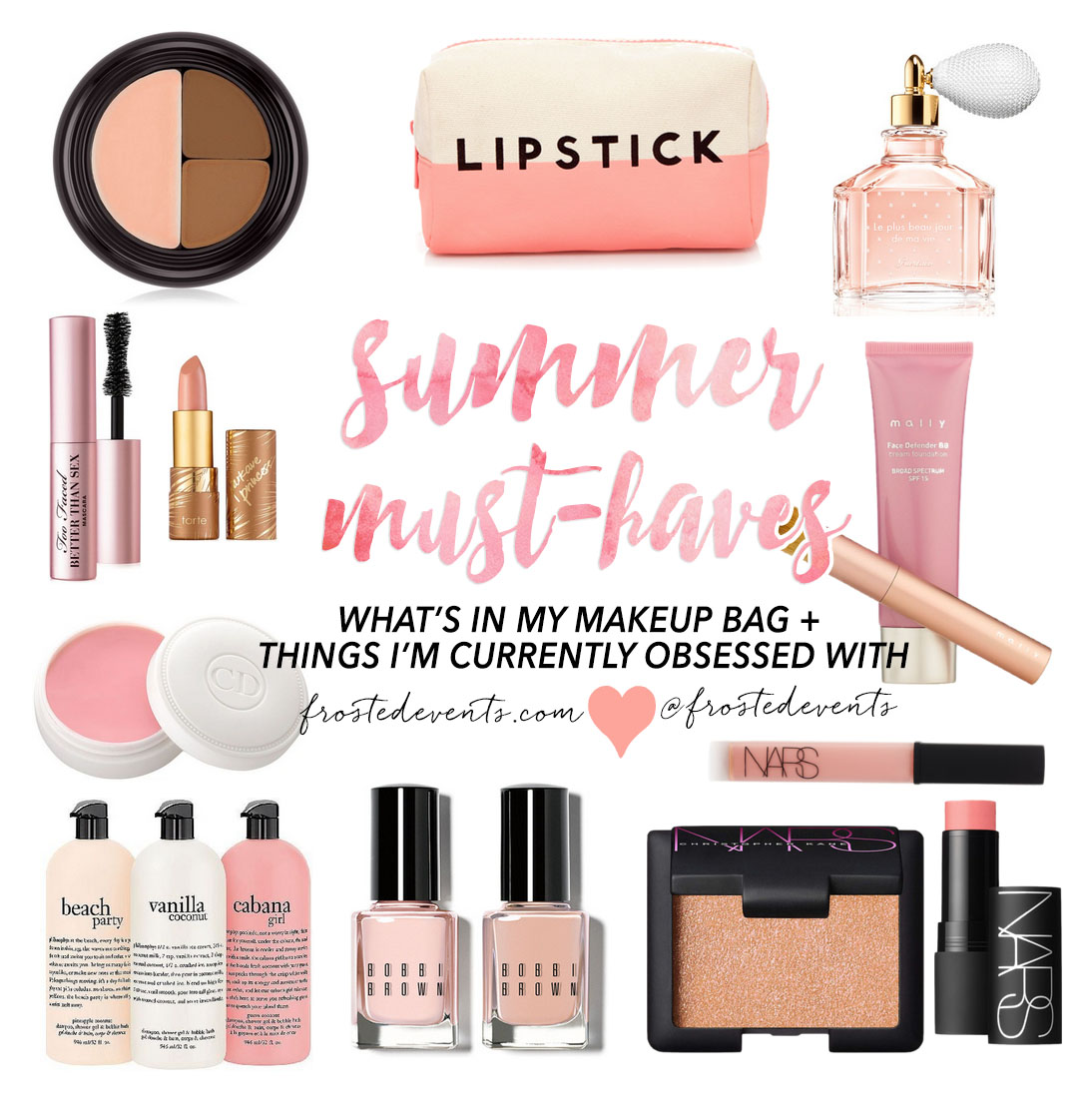 summer makeup things i love frosted events frostedevents beauty essentials - Makeup Must Haves