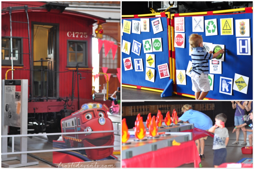 Chuggington Train at Baltimore Railroad Museum Fire Drill Fun
