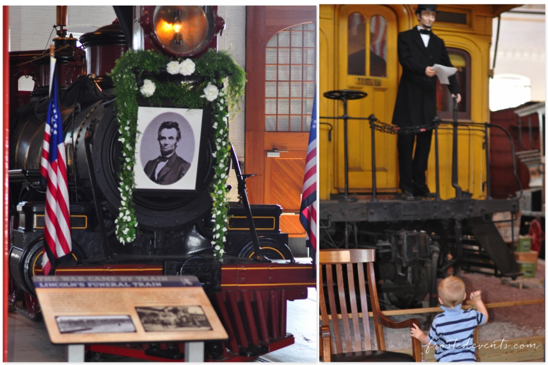 Chuggington Train at Baltimore Railroad Museum Maryland -- Lincoln's Funeral Train