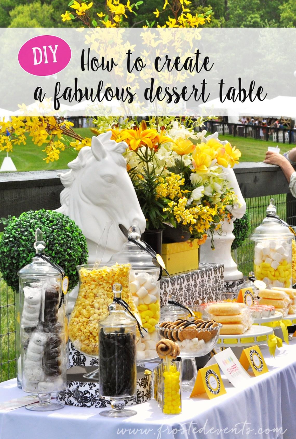 Dessert Table Candy Buffet Wedding Ideas Inspiration Horse Derby Theme frostedevents #desserttable #candybuffet #wedding
