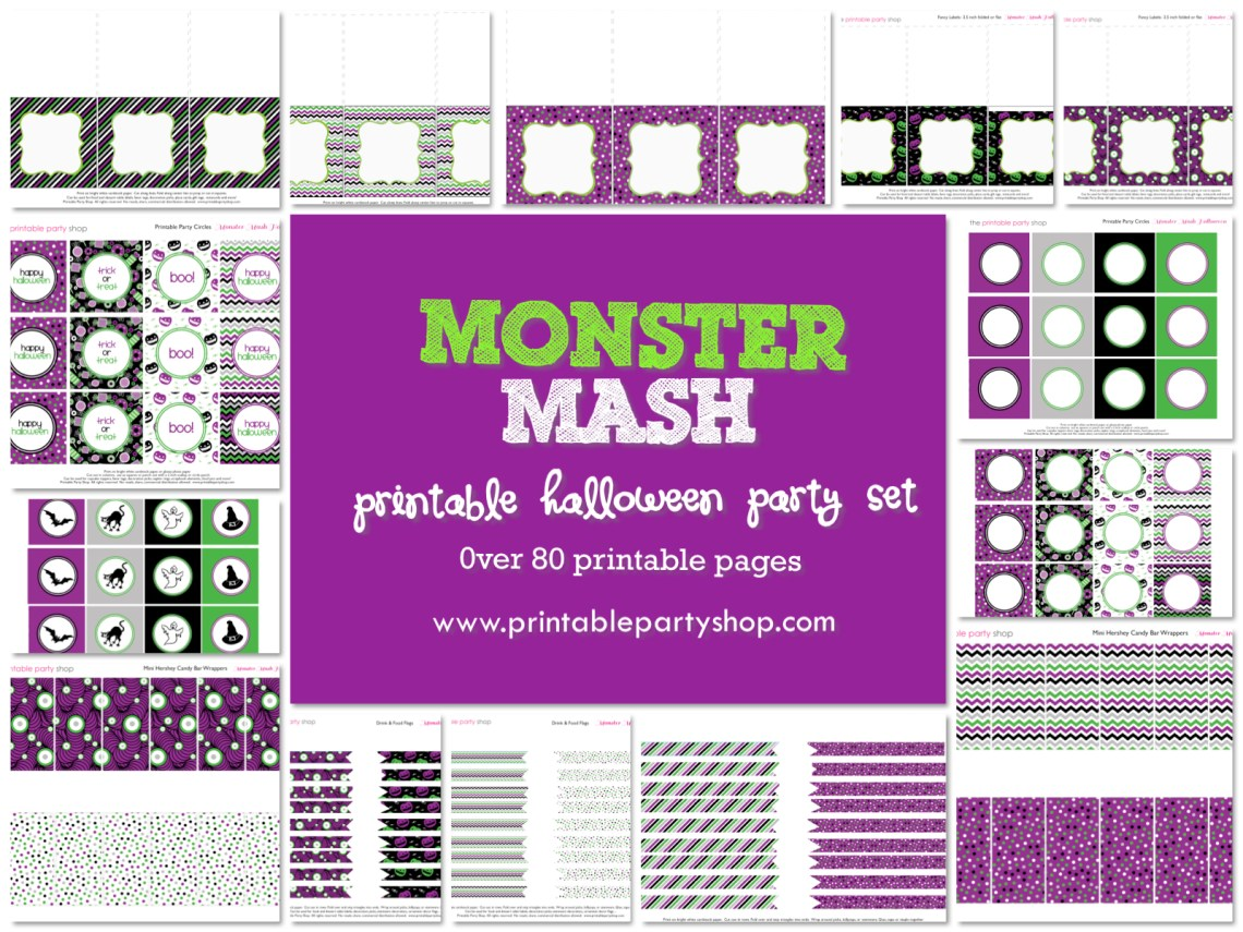 Monster Mash Halloween Party Themes - Free Halloween Printables