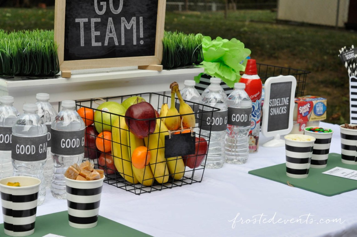 easy party food ideas sports team snack table