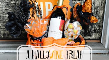 HalloWINE-DIY-halloween-gift-basket-robert-mondavi-wine-youve-been-boozed-boo-kit Robert Mondavi #HalloWINE