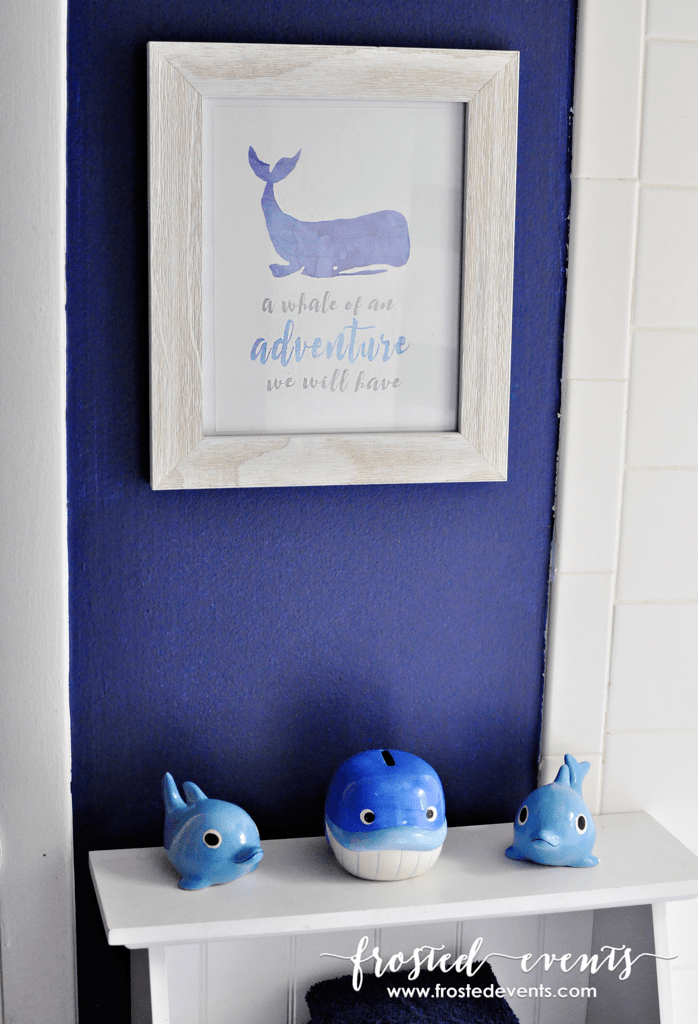 Free Printable Whale Print for Kids Nursery or Bathroom Printable Download frostedevents.com DIY