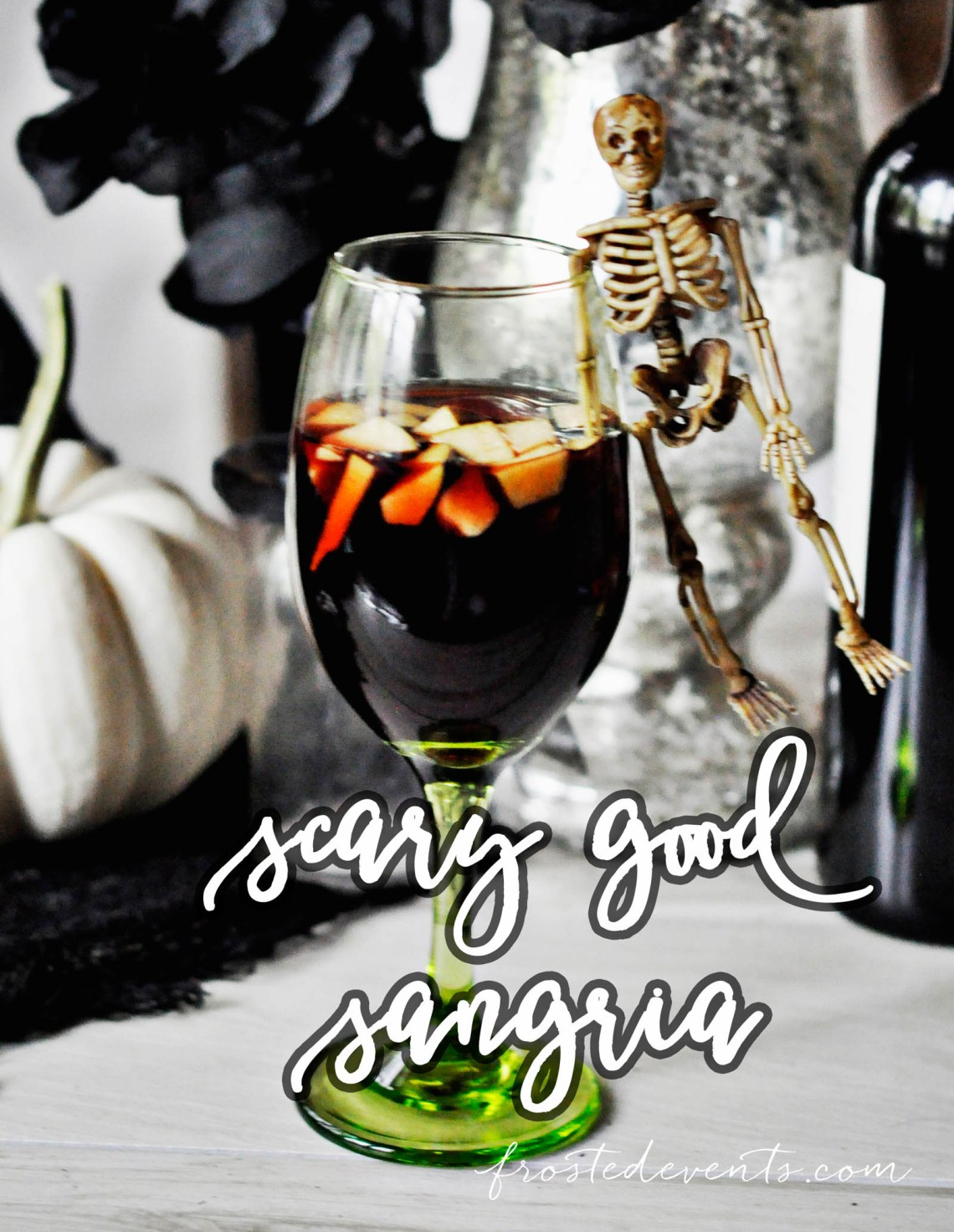Halloween Cocktails and Halloween Party Drinks- Halloween Cocktails- Scary Good Sangria frostedeventscom