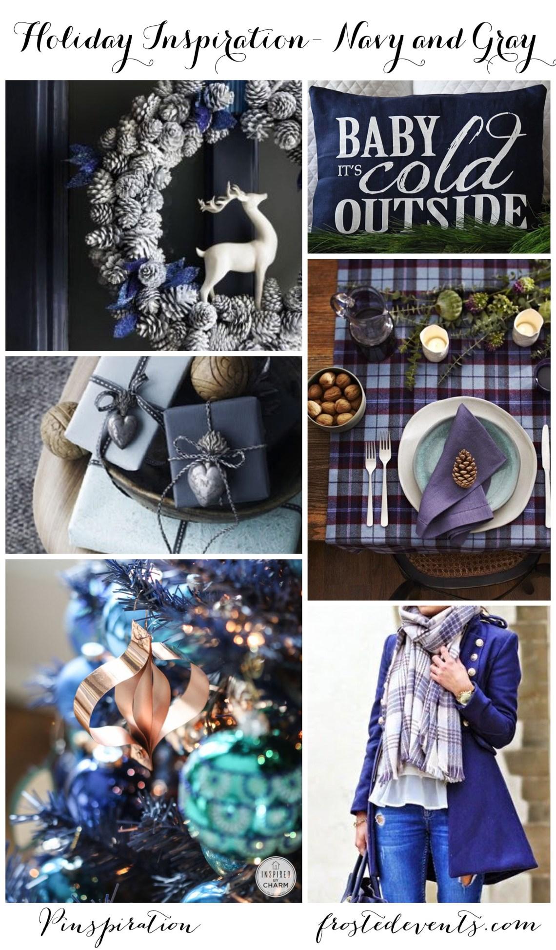 Christmas Decor Ideas + Blue and Gray Christmas + Blue Holiday Inspiration