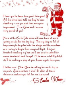 How To Add Names And Text The Free Printable Santa Letter