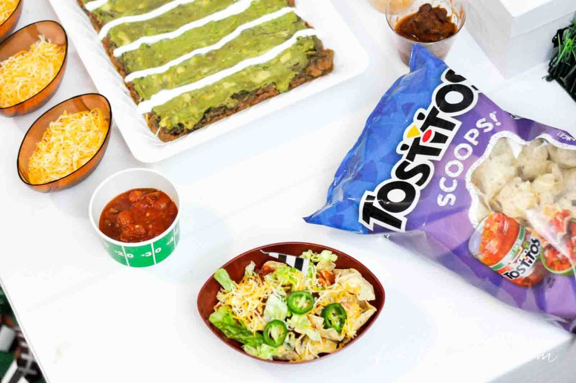 Football Party Ideas, Gametime snack ideas  Super Bowl Nacho Bar with Tostitos Food Ideas