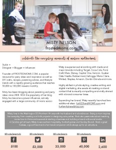 Lifestyle Blogger, Mom Blogger Misty Nelson Frosted Moms @frostedevents