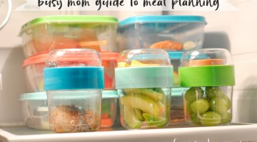 Meal Planning for Back to School Busy Moms Printable