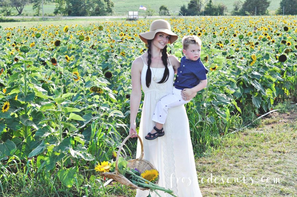 Sunflowers Burnside Farms Virginia Fun for Kids Kid Friendly Places
