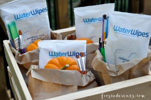 Fall Activities for Kids Painting Pumpkins and Acorns Party Fall Craft Ideas with WaterWipes and @frostedevents