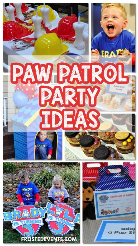 Paw Patrol Party Ideas Birthday Inspiration Decorations, Cupcakes, Favors, Activities via frostedevents