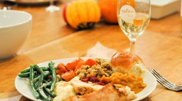 Thanksgiving Dinner Whole Foods and Williams Sonoma Table Decor via Misty Nelson @frostedevents frostedMOMS