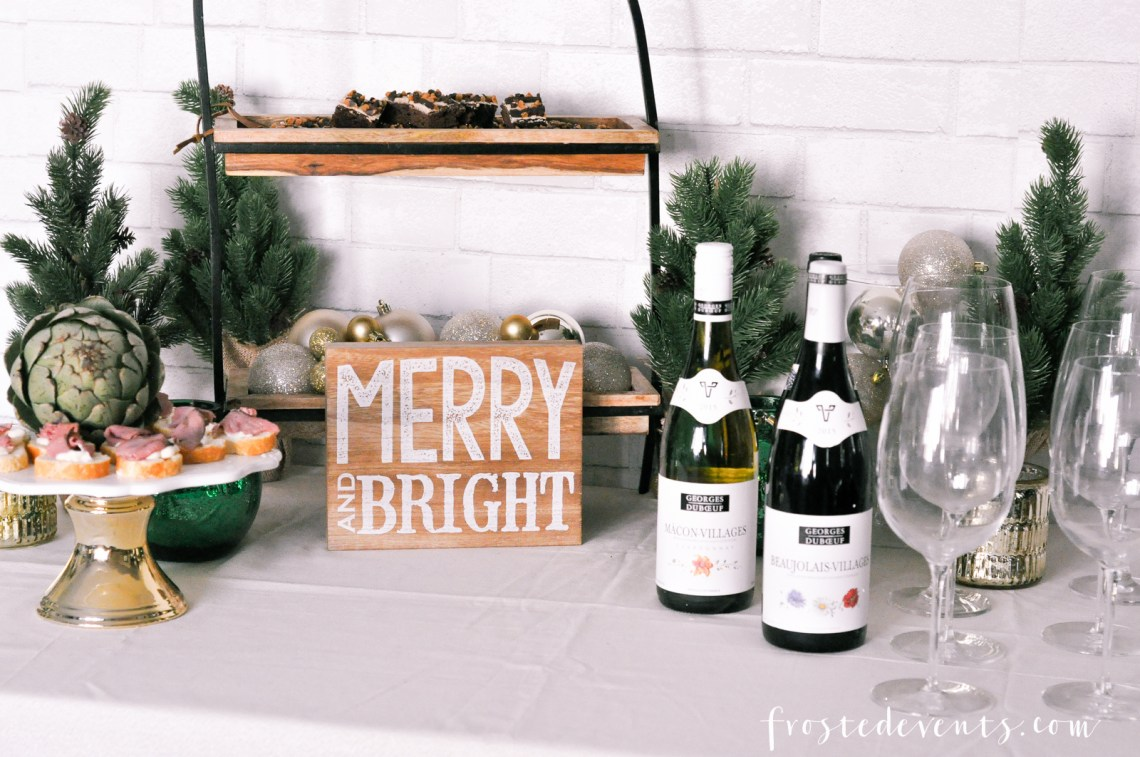 Holiday Party Ideas With Georges Duboeuf 2016 Beaujolais Nouveau and Misty Nelson frostedMOMS blog @frostedevents