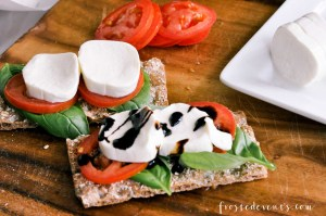 Tomato Mozzarella Caprese Recipe with WASA Crispbread via Misty Nelson frostedMOMS @frostedevents