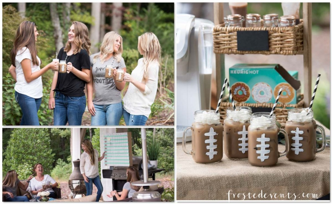 Fantasy Football League Party for Ladies Coffee Drink Ideas via frostedblog Misty Nelson http://yasminleonardphotography.pass.us/frostedevents