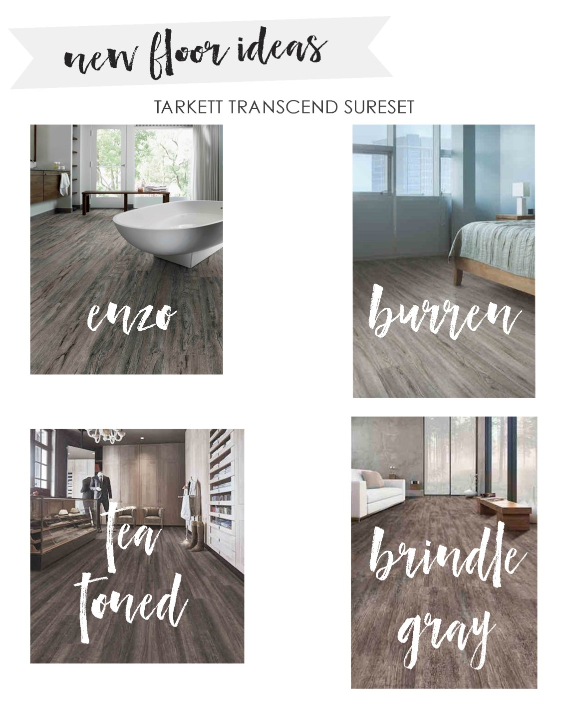 Vinyl Plank Flooring - New Flooring - Vinyl Flooring Wood Floors by Tarkett - Home Design via Misty Nelson frostedblog.com @frostedevents