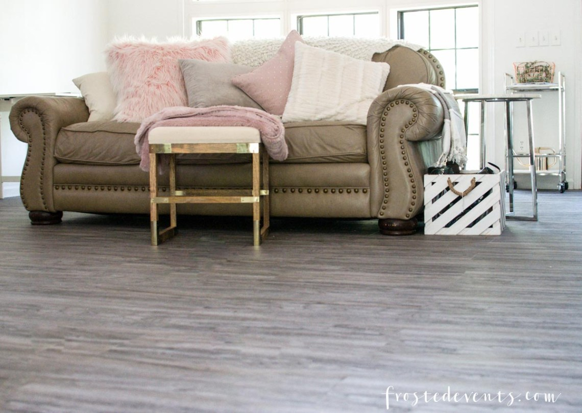 Luxury Vinyl Flooring Reveal! Our Latest Home Renovation Project via Misty Nelson frostedblog