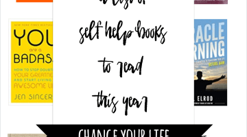 Best self help books to change your life - Personal development books, a reading list for how to be happy and achieve your goals via Misty Nelson blogger and influencer, frostedblog