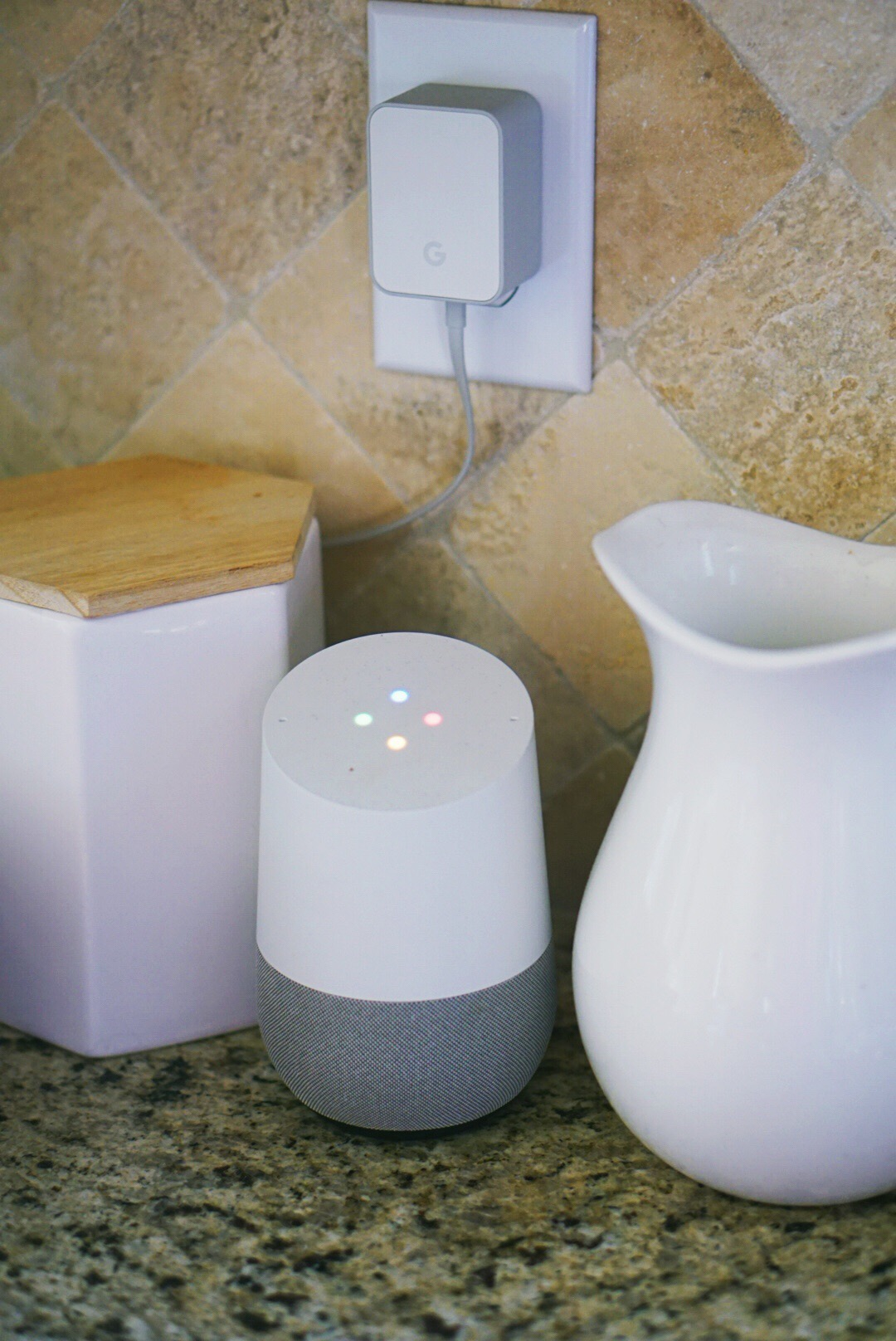 Kitchen Essentials - Google Home Speaker - You Can Shop For no eBay - ebay home goods via Misty Nelson, lifestyle blogger ad parenting influencer mom at frostedblog @frostedevents