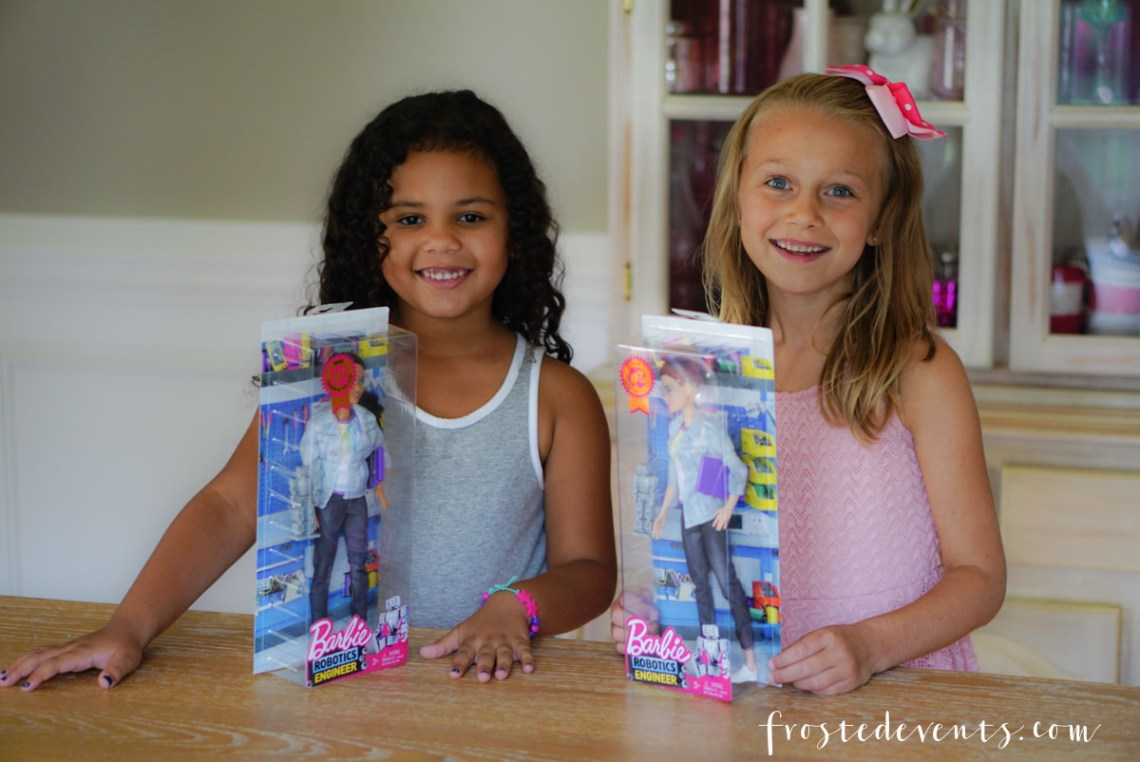 Barbie Career dolls - New Robotics Engineer Barbie Inspires STEM learning - via Misty Nelson, frostedblog frostedevents.com