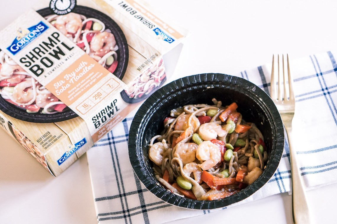 Easy Lunch Bowls - Gorton's Shrimp Bowls - Seafood Meal Ideas via Misty Nelson, food blogger frostedevents.com parenting blog