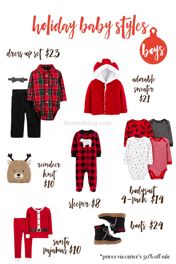 Carters Near me BIG Sale haul - Carters coupon codes for Baby Holiday Outfits
