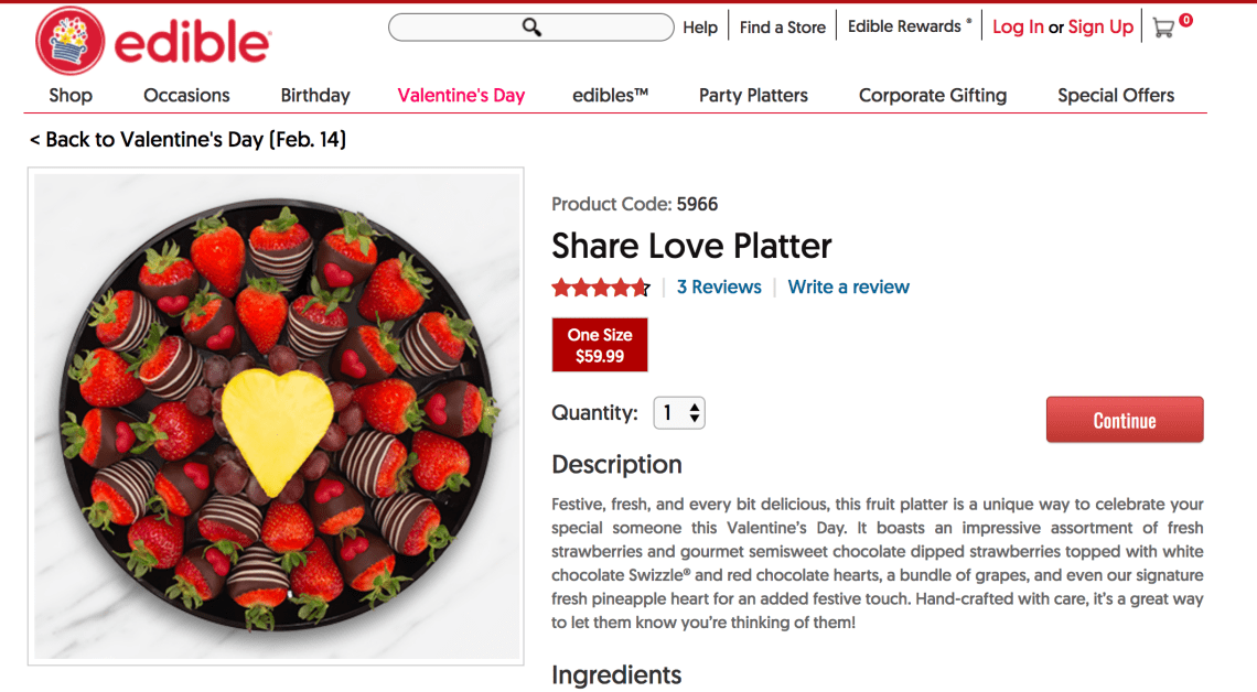 Edible Arrangements Valentines Gift Ideas - Chocolate Covered Strawberry Platter