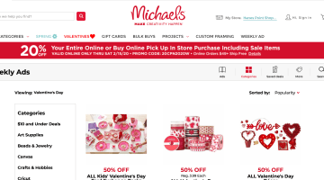 Michaels Near Me - coupon code and discount codes for Valentine's Day crafts and decorations
