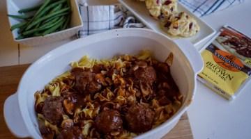 Meatballs & Mushroom Gravy Recipe