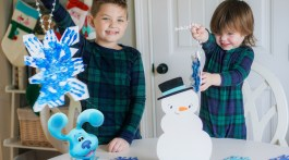 Christmas Crafts Kids - Snowflake Prints with Blue's Clues & You! Holiday Special Christmas shows for kids